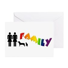 Lesbian Family Pride, Pets Greeting Cards (Package