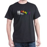 Lesbian Family Pride, Pets Black T-Shirt