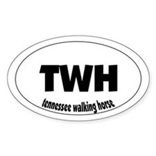 tennessee walking horse - Oval Decal