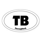 thoroughbred - Oval Decal