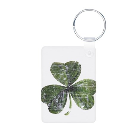 Artsy Shamrock Aluminum Photo Keychain