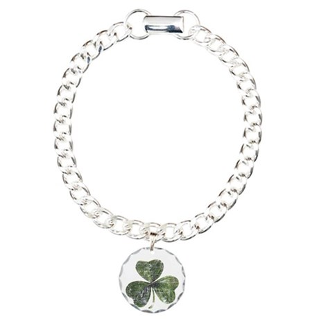 Artsy Shamrock Charm Bracelet, One Charm