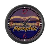 Memphis Bridge Scene Large Wall Clock