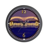 Memphis Bridge Scene Wall Clock