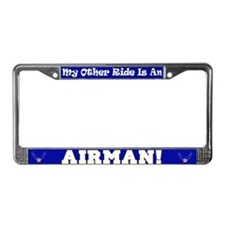 My Other Ride is An Airman License Plate Frame