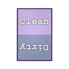 "Clean/Dirty Dishwasher 2"" x 3"" Rectangle Magnet"