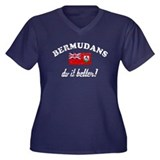 bermudans do it better Women's Plus Size V-Neck Da