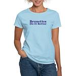 Brunettes Do It Better Women's Pink T-Shirt