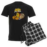 Thanksgiving Harvest Men's Dark Pajamas