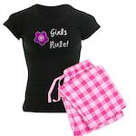 Girls Rule Women's Dark Pajamas