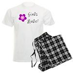 Girls Rule Men's Light Pajamas