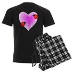 Ladybug Love Men's Dark Pajamas