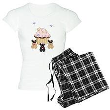 Pug Dog Cupcakes Pajamas