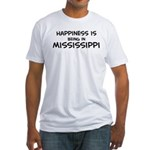 Happiness is Mississippi Fitted T-Shirt