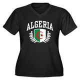 Algeria Women's Plus Size V-Neck Dark T-Shirt