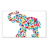 Abstract Elephant Decal