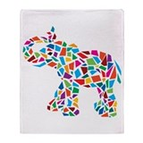 Abstract Elephant Throw Blanket