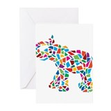Abstract Elephant Greeting Cards (Pk of 10)