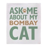 Bombay Cat Throw Blanket