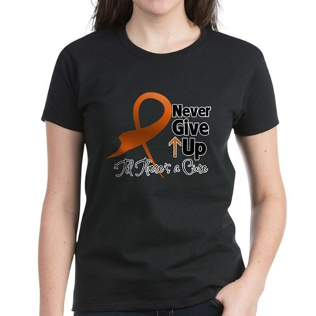 NeverGiveUp Multiple Sclerosi Women's Dark T-Shirt