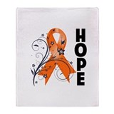 Hope Floral Multiple Sclerosi Throw Blanket