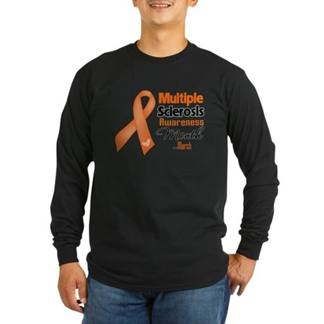 Multiple Sclerosis Month Long Sleeve Dark T-Shirt