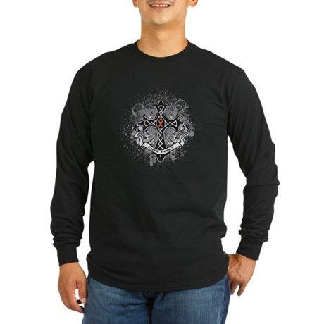 Multiple Sclerosis Cross Long Sleeve Dark T-Shirt