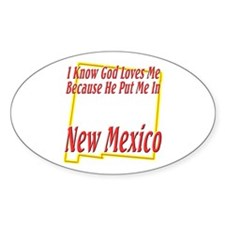 God Loves Me in NM Decal