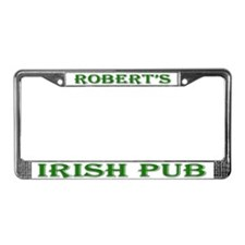 Robert's Irish Pub License Plate Frame
