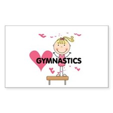 Blond Girl Gymnast Decal