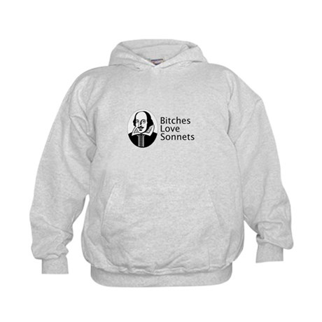 Bitches love sonnets Kids Hoodie