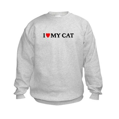 I LOVE MY CAT Kids Sweatshirt