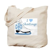 I Heart Skating Ice Skate Tote Bag