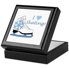I Heart Skating Ice Skate Keepsake Box
