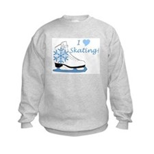 I Heart Skating Ice Skate Sweatshirt