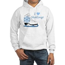 I Heart Skating Ice Skate Hoodie Sweatshirt