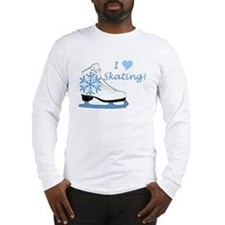 I Heart Skating Ice Skate Long Sleeve T-Shirt