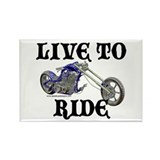 Live To Ride Rectangle Magnet
