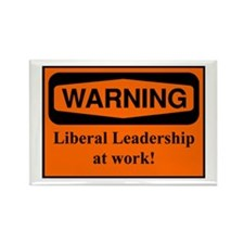 Warning Liberals at work Rectangle Magnet (10 pack