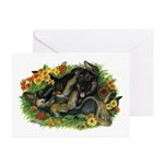 Puppy Garden Greeting Cards (Pk of 10)