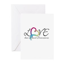 Love doesn't count Chromosome Greeting Cards (Pk o
