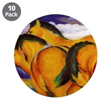 "Yellow Horses 3.5"" Button (10 pack)"