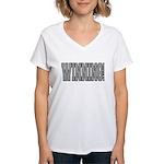 #WINNING! Women's V-Neck T-Shirt