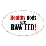 Healthy dogs - Oval Decal