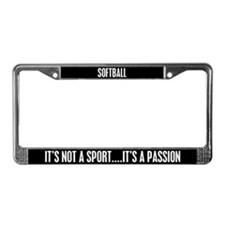 Softball It's a Passion License Plate Frame