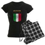 Italian 4 Star flag Women's Dark Pajamas