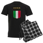 Italian 4 Star flag Men's Dark Pajamas