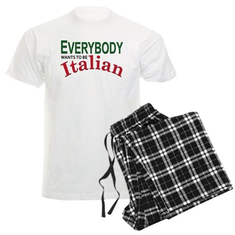 Everybody wants to be Italian Men's Light Pajamas