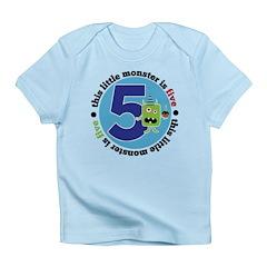 Little Monster is 5 Infant T-Shirt