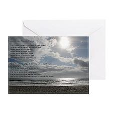 Prayer of St. Francis Greeting Card